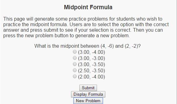 Interactive Midpoint Formula